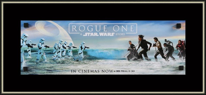 An original British mini movie poster for Rogue One : A Star Wars story