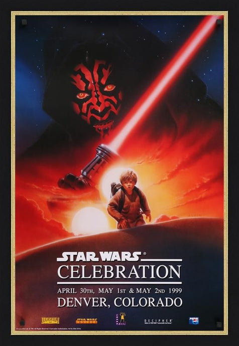 An original official poster from Star Wars Celebration I in 1999