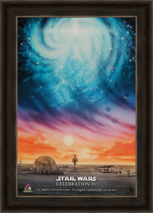 An original unfolded poster for Star Wars Celebration IV / 4