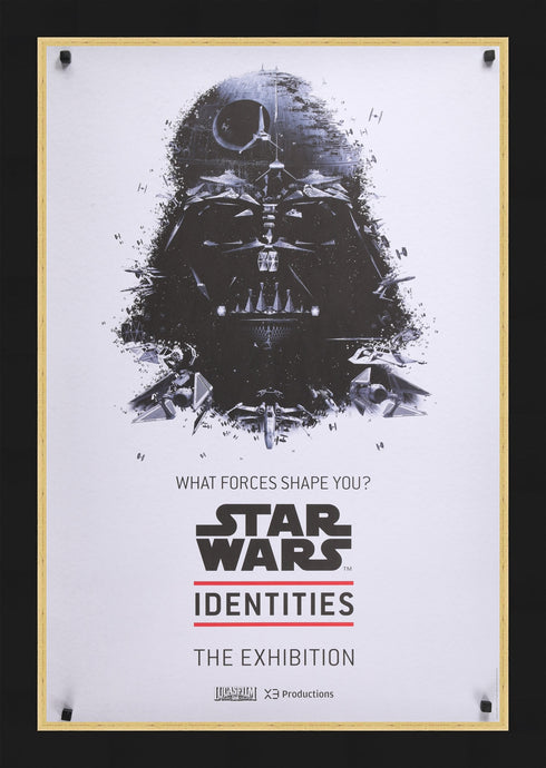 An original exhibition poster for Star Wars Identities