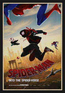 An original move poster for the film Spider-Man into the Spider-verse