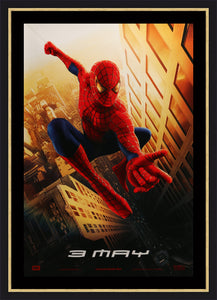 An original movie poster for Spider-Man