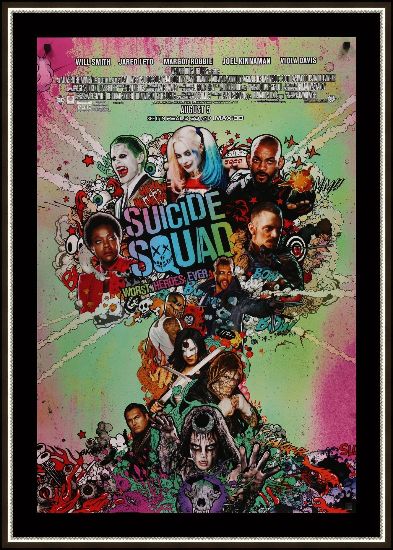 An original vintage movie poster for Suicide Squad