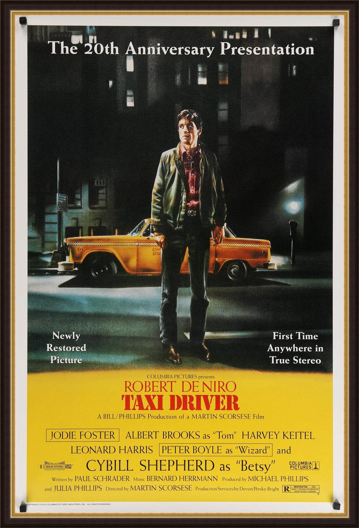 An original movie poster for the film Taxi Driver