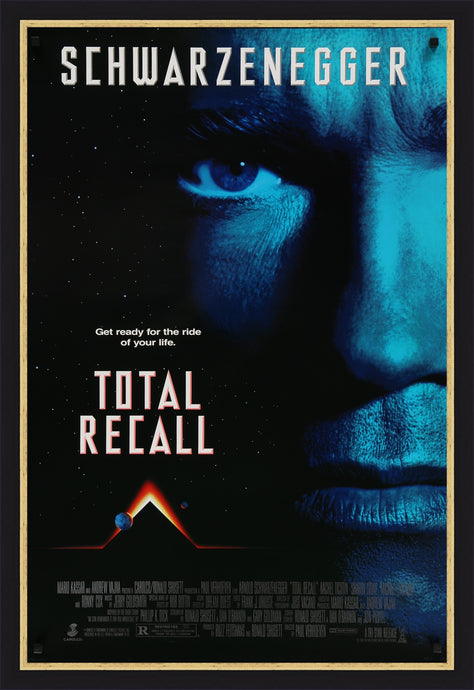 An original movie poster for the film Total Recall