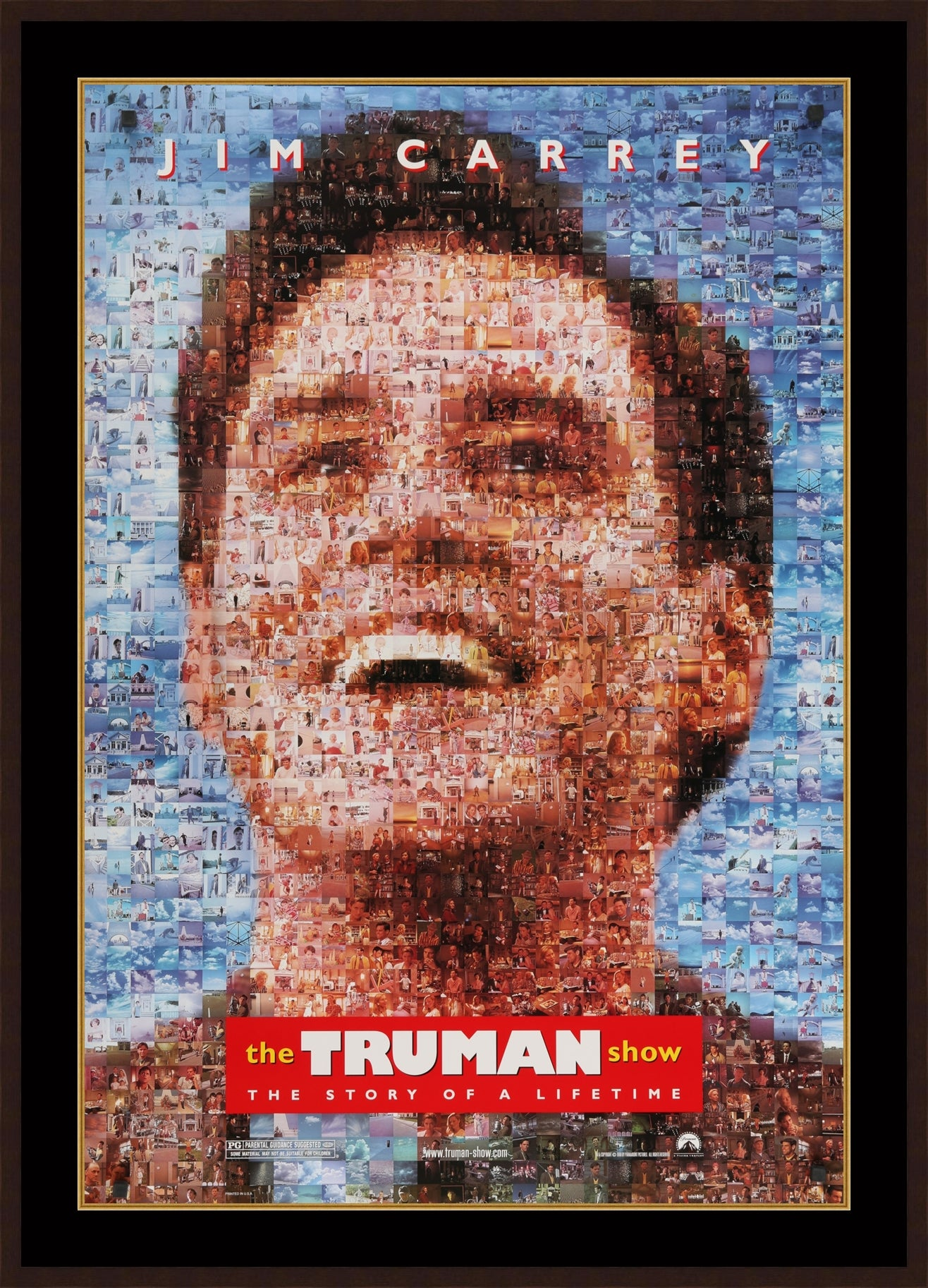 An original movie poster for The Truman Show