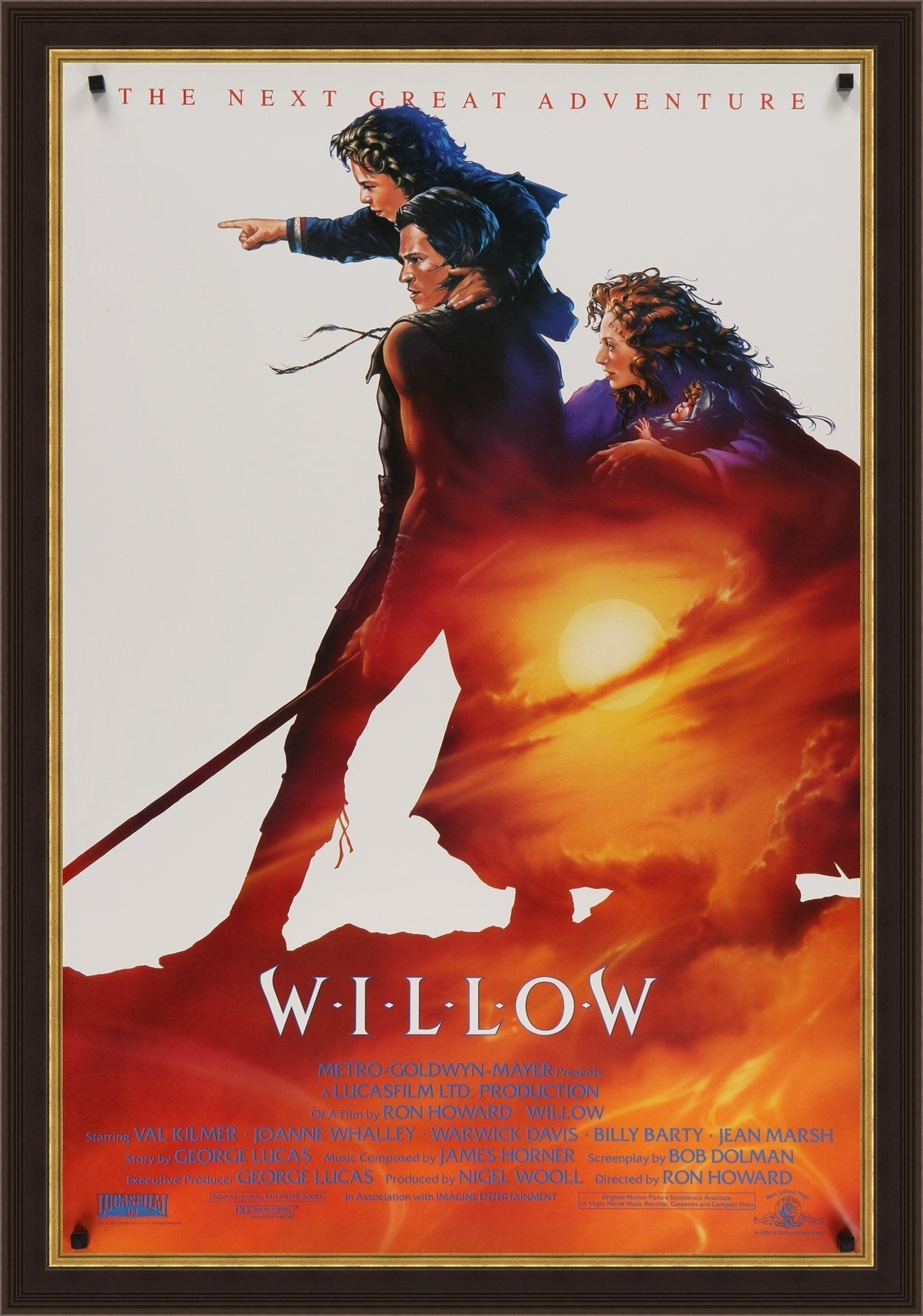 An original movie poster for the film Willow