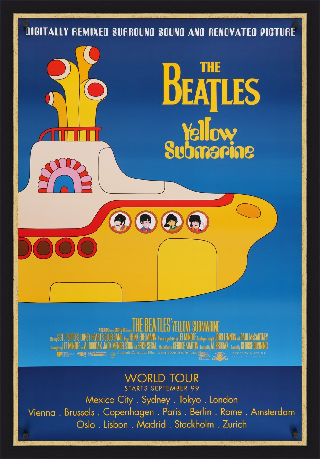 An original movie / film poster for The Beatles' Yellow Submarine