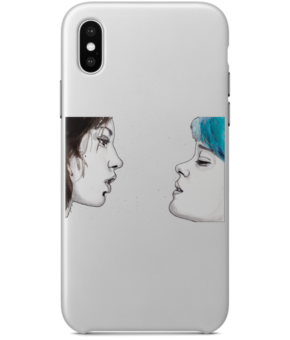 Blue Is The Warmest Colour iPhone X Full Wrap Case