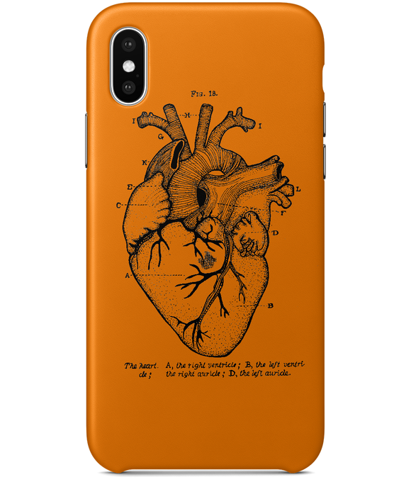 Anatomical Heart iPhone X Full Wrap Case