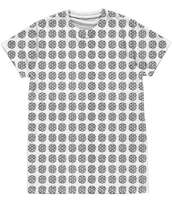 Sphere Optic Illusion Unisex All-Over Sublimation Tee