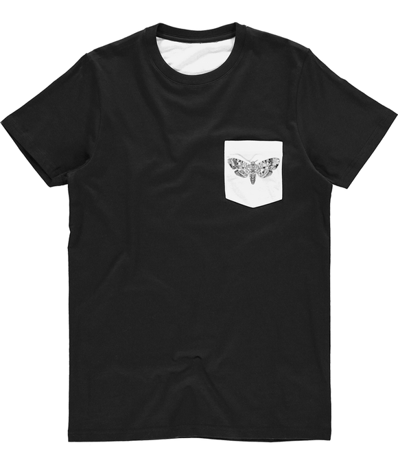 Death's-Head Hawkmoth Unisex Subli Pocket Tee