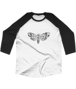 Death's-Head Hawkmoth Unisex Baseball T-shirt