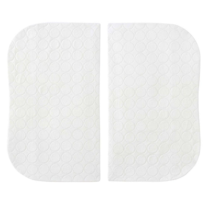 HALO Bassinest White Mattress Pad Twin 2-Pack