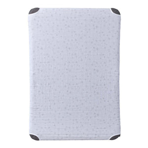 HALO DreamNest Open Airflow SleepSystem Muslin Gray Star Print Sheet