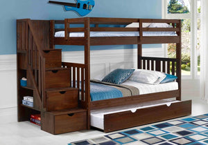 Cambridge Twin Over Twin Bunk with Staircase and Trundle