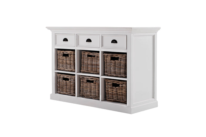 Images | Nova Solo Halifax White Buffet Sideboard with 6 Baskets B128