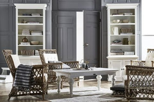 Images | Halifax White Single Open Bookcase with Cupboard CA612