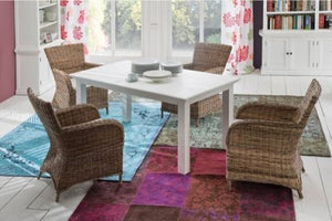 Images | Halifax White Extending Dining Table T766