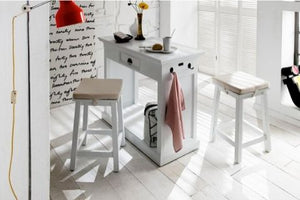 Images | Halifax White Kitchen Table with 2 Stools T767