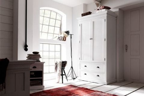 Images | Halifax White Double Wardrobe with 2 Drawers W001