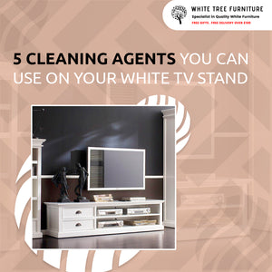 5 Cleaning Agents You Can Use On Your White TV Stand