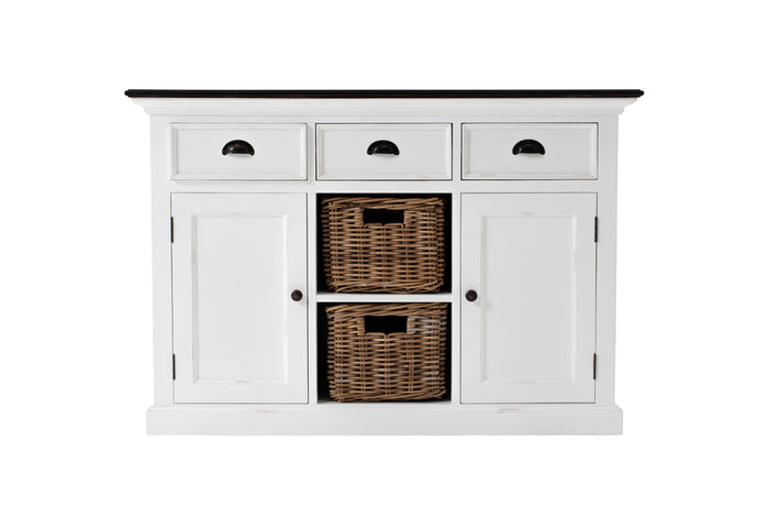 Images | Nova Solo Halifax Accent White Buffet with 2 Baskets B129TWD