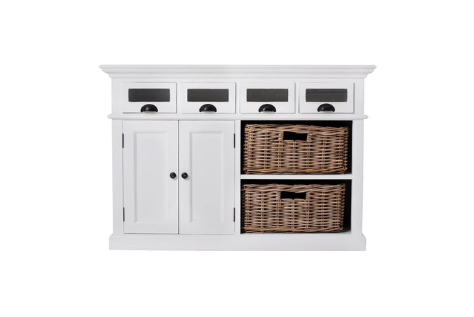 Images | Nova Solo Halifax White Kitchen Buffet with Basket Set B131