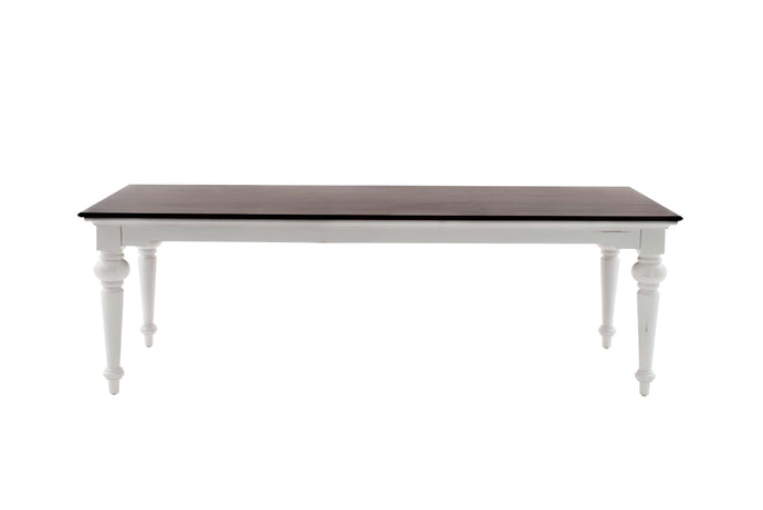 Images | Provence Accent White Dining Table with Wooden Top 240cm T784TWD