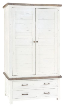 Reclaimed Pine White Wardrobe