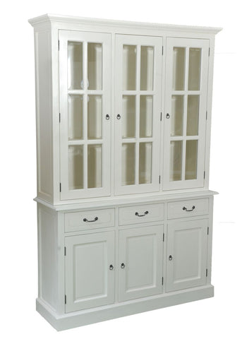 White Glazed Display Cabinet