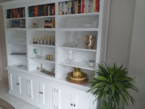 Halifax White Painted Grand Bookcase Display Cabinet CA614