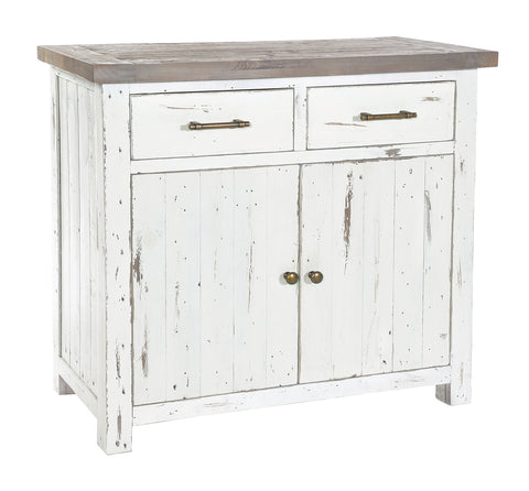 Reclaimed Pine White Small Sideboard
