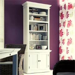 White Painted Bookcases and Bookshelves