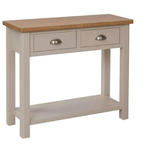 Toulouse Grey Painted Oak Console Table - White Tree Furniture