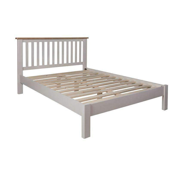 Toulouse Grey Painted Oak Bed Frame 5ft - White Tree Furniture