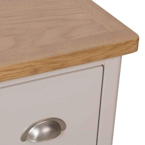 Toulouse Grey Painted Oak 2 Drawer Bedside Cabinet - White Tree Furniture