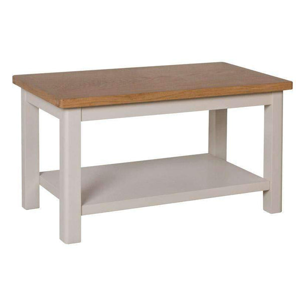 Toulouse Grey Painted Oak Small Coffee Table - White Tree Furniture