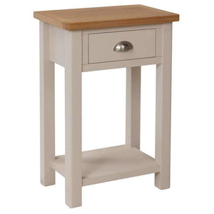 Toulouse Grey Painted Oak Telephone Table - White Tree Furniture