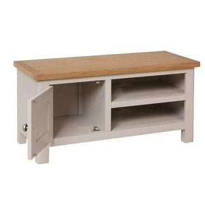 Toulouse Grey Painted Oak TV Unit - White Tree Furniture