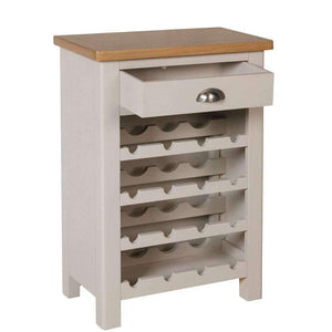 Toulouse Grey Painted Oak Wine Cabinet - White Tree Furniture