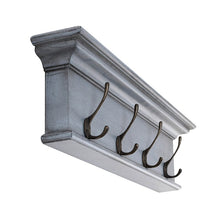Novasolo Halifax Blue Black 4 Hook Coat Rack - White Tree Furniture