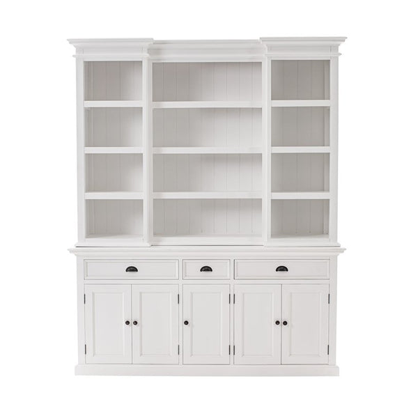 Novasolo Halifax White Kitchen Hutch Cabinet BCA605 - White Tree Furniture