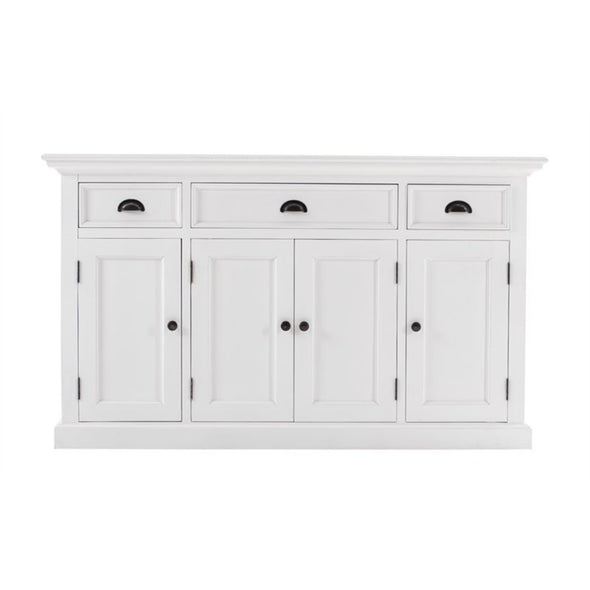 Halifax White Farmhouse Sideboard with 4 Doors - White Tree Furniture