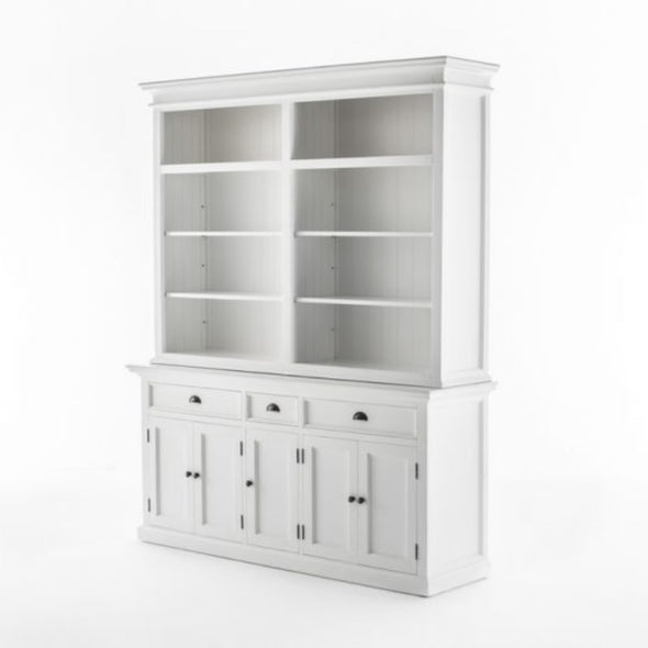 Halifax Large White Hutch Bookcase BCA606 - White Tree Furniture