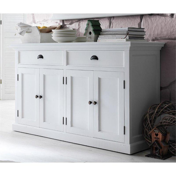 Halifax White Painted Farmhouse Sideboard - White Tree Furniture