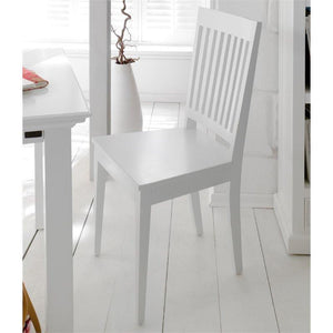 Halifax White Painted Slatback Dining Chairs (Pair) - White Tree Furniture