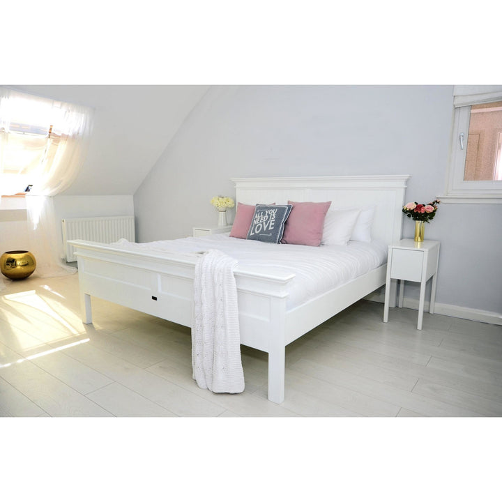 Halifax White Painted Emperor Size Bed 200 x 200 cm - White Tree Furniture