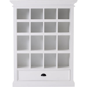 Halifax White Painted Entertainment Storage Shelving Unit - White Tree Furniture