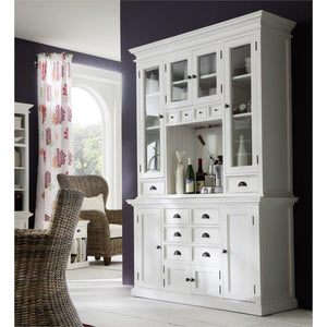 Halifax White Painted Kitchen Dresser with Hutch Unit BCA597 - White Tree Furniture